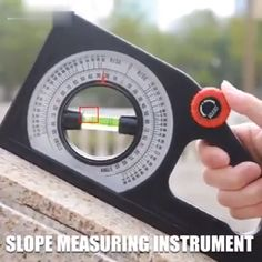 Introducing the Multi-function Slope Measuring Instrument, an accurate slope measuring ruler. The graduated rotating wheel is used to adjust the position of the bubble in the level pipe. Clear scale, a large number of the readable disc, easy to read. Homemade Tools, Diy Tools, Hand Tools, Life Hacks Diy, Useful Life Hacks, Measuring Instrument, Garage Tools, Garage Ideas, Construction Tools