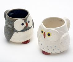 Cuteness!    Owl Mug Set