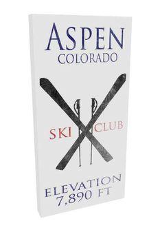 Ski Sign Cabin Decor Ski Decor Aspen Colorado by MadiKayDesigns