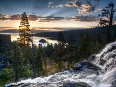 Sunrise Reflecting Off the Waters of Emerald Bay and Eagle Falls, South Lake Tahoe, Ca Photographic Print by Brad Beck at AllPosters.com