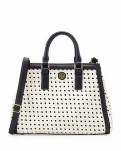Tory Burch Color-Block Tote | Into the Blue | Pinterest | Color ...