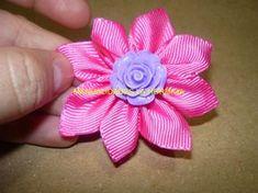 paso a paso de linda flor super facil ,para accesorios del cabello