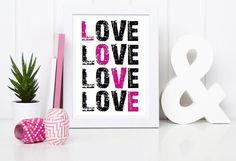 ★ PRINT ★ Poster ★ LOVE ★ von Kitsch'n'Story auf DaWanda.com