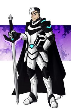 Black Paladin Knight Shiro from Voltron Legendary Defender