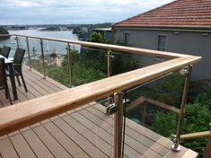 50 Incredible Glass Railing Design for Home Blacony 40 - All About Balcony Decking Glass Balustrade, Balustrade Balcon, Balustrades, Glass Railing, Deck Railings, Balustrade Design, Glass Stairs, Glass Pool Fencing, Glass Fence