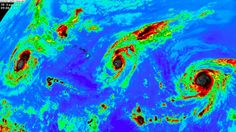 Rare Event Of Three Category 4 Hurricanes Forming in the Pacific Ocean