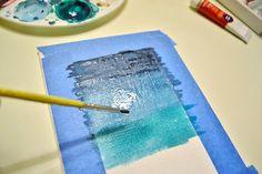 Ombre Watercolor Canvas DIY