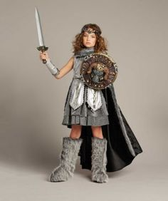 warrior girls costume