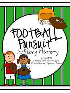 Football Pursuit: An Auditory Memory Activity for Speech Therapy