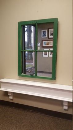 Green Window Mirror Green Mirror Window by TheDecorativeCompany www.thedecorativecompany.com #windowmirror #greenwindowmirror #greenmirror