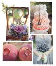 Peach and Lavender Wedding