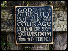 Folk Art Handmade Primitive Serenity Prayer by GoldieLooWoodworks, $21.00