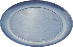 Metall Teller Dekoteller verzinkt Rund Ø 26 cm zum Dekorieren 6 Stück Set