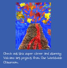 Kids could crumple then flatten paper to create the volcano.  They can tear or cut paper for the lava.  (We have switch adapted scissors!) They could blow the paper with the hairdryer connected to the Powerlink.