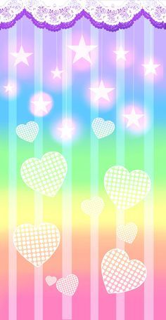 Cell phone Wallpaper / Background re-sizable for all cells phones. Wallpaper App, Heart Wallpaper, Kawaii Wallpaper, Cellphone Wallpaper, Screen Wallpaper, Flowery Wallpaper, Rainbow Wallpaper, Cute Backgrounds, Wallpaper Backgrounds