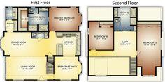 Banner Elk I: Log Home Floor Plan | Blue Ridge Log Cabins