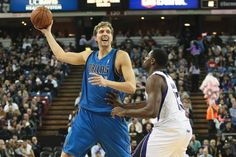 "Dirk Nowitzki passes Jerry ""The Logo"" West on the NBA's all-time scoring list, ranking at number 16."