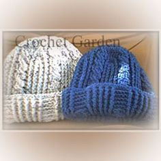 Thick Warm Crocheted Winter Hat  (Free Pattern)