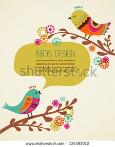 stock-vector-colorful-background-with-cute-decorative-birds-134393012.jpg (369×470)