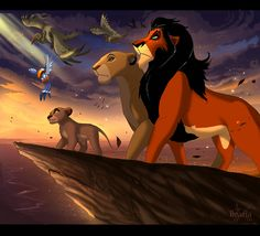 100 Pieces of Crazy Disney Art in Traditional Disney Style Scar is King of Pride Rock