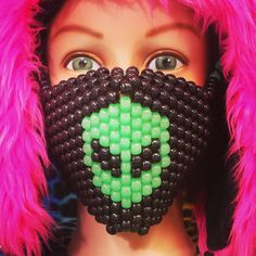 Get one or Customize your own @iedm.com Glow Alien Kandi Mask