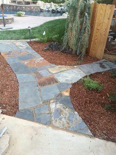 Flag stone flat work