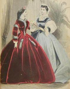 1860s fashion plate, The Barrington House Educational Center, L.L.C.