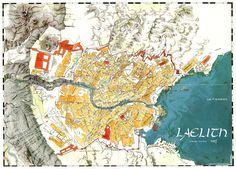 Laelith (CB #35, 1986) : Haute-Terrasse, Terrasse du Nuage, Terrasse de la Prospérité, Terrasse de la Chaussée-du-Lac, Terrasse de la Main-qui-travaille, Terrasse du Châtiment.