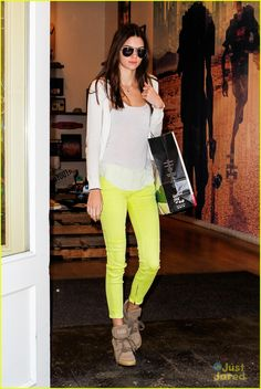 Kendall Jenner in Chartreuse Pants
