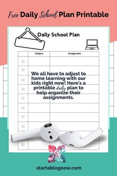 It's a unique time in our history. As I've struggled to help my children adapt to home learning, I've had to create fun kids' printables to help. Our Kids, My Children, School Plan, Home Learning, How To Start A Blog, Elementary Schools, Free Printables, Organize, Homeschool
