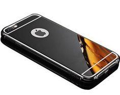 Sunroyal® iPhone 7 4.7″ Miroir Retour Case Ultra mince Coque Etui Housse Aluminium Métal Rim Thin Effet Mirror Réflexion Métallique Hard…