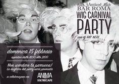 Grande festa di Carnevale di domenica 15 febbraio al Bar Roma di Novellara! Non dimenticate la parrucca!!!