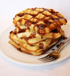 Cinnamon Roll Waffles - super easy.  Just make the cinnamon sugar mixture and pour over plain waffles and then drizzle with the icing.
