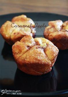 Caramel Apple Monkey Bread Muffins