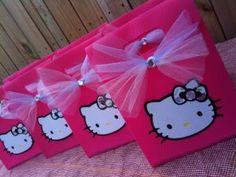 "8 ""Simply Sweet"" Hello Kitty Handmade Custom Birthday Favor Gift ..."