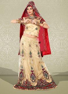 Flamboyant Red Net Embroidered #Lehenga Choli #bridallehenga #weddinglehengas #ethnicwear #womenapparel #womenfashion