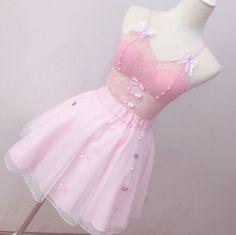 Pink lace Bowknot Condole Belt Vest/briefs Two-piece