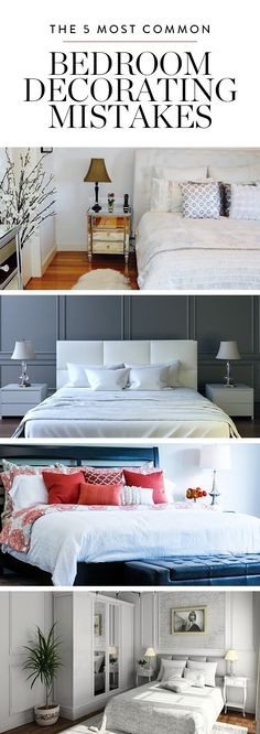 Your bedroom is your sanctuary: the place where you rest your head, read your favorite books, cuddle with your favorite guy Boston Terrier. So why should it be decorated to anything less than perfection? Here are the top five mistakes folks most often make when planning a bedroom…and how to fix them ASAP.