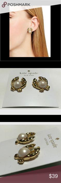 KATE SPADE EARRINGS Oh so cute gold crab earrings. New With Tags. kate spade Jewelry Earrings