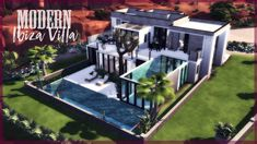 Hi guys, I hope you're all having a lovely weekend! Today I'm building a modern Ibiza dream villa in I really hope you enjoy the video! Sims Four, Have A Lovely Weekend, Sims 4 Build, Sims 4 Houses, Modern Mansion, The Sims4, My Sims, House Rooms, Ibiza