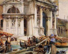 "John Singer Sargent ""Santa Maria della Salute "" 1904 Acquerello cm 46 x 58  Brooklin Museum"