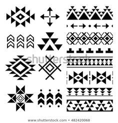 Find Navajo Print Aztec Pattern Tribal Design stock images in HD and millions of other royalty-free stock photos, illustrations and vectors in the Shutterstock collection. Thousands of new, high-quality pictures added every day. Motif Navajo, Navajo Pattern, Navajo Print, Native American Patterns, Native American Design, Arte Tribal, Tribal Art, Loom Patterns, Beading Patterns