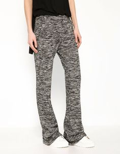 Tricot Flared Trousers from Bershka Latest Fashion Trends, Fashion Brand, United Kingdom, Trousers, Sweatpants, Spring Summer, Satin, Coat, Clothes