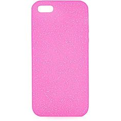 TOPSHOP Glitter Silicon Iphone 5 case (16 CAD) ❤ liked on Polyvore featuring accessories, tech accessories, pink and topshop