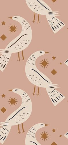 Behang Birds Of Hope - May and Fay - Webshop met unieke interieurproducten en stationary Stunning Wallpapers, Pattern Wallpaper, Home Bedroom, Most Beautiful Pictures, Kids Room, Told You So, Presents, Wall Decor, Birds
