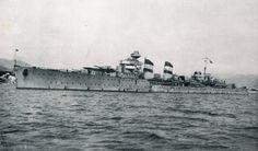 El crucero Almirante Cervera durante la guerra civil. Del libro 9 HISTORIAS DE BARCOS.