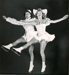 Title	Shirley and Ginger who were featured skaters with the Ice Follies Photographer	Gabriel Moulin Date	1947