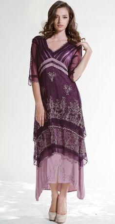 titanic style dress in mauve #wardrobeshop
