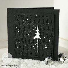 Weihnachten I have to admit, I never thought that I would ever make a black Christmas card, but then Chrismas Cards, Christmas Card Images, Christmas Card Crafts, Xmas Cards, Diy Cards, Handmade Christmas, Dyi Decorations, Chewing Gum, Black Christmas