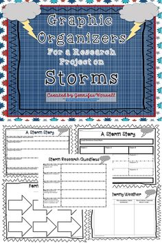 Need some graphic organizers for a research project on weather or storms? Check out this freebie on Teachers Pay Teachers.